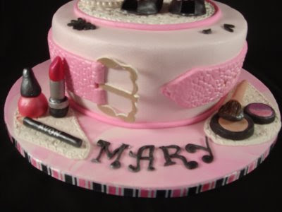 "And she is having a ""Girls' Night Out"" celebration tonight. This cake"