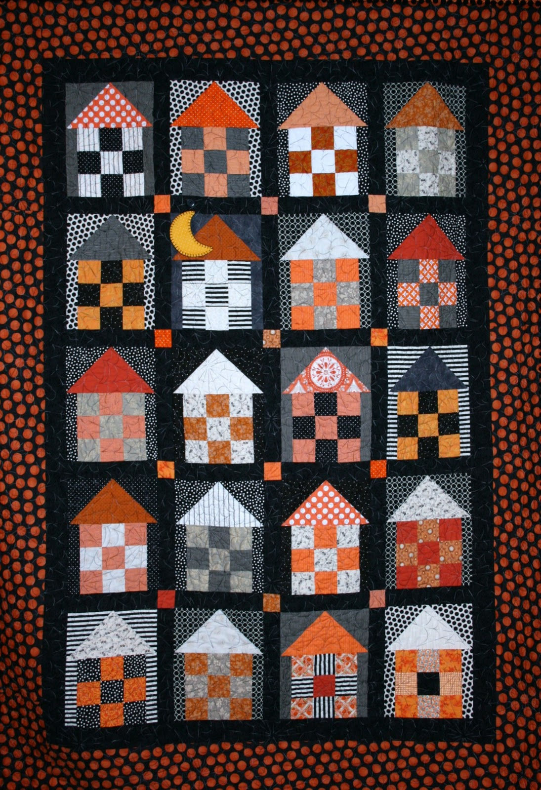 Gigi 39 s thimble haunted house quilt for House pattern