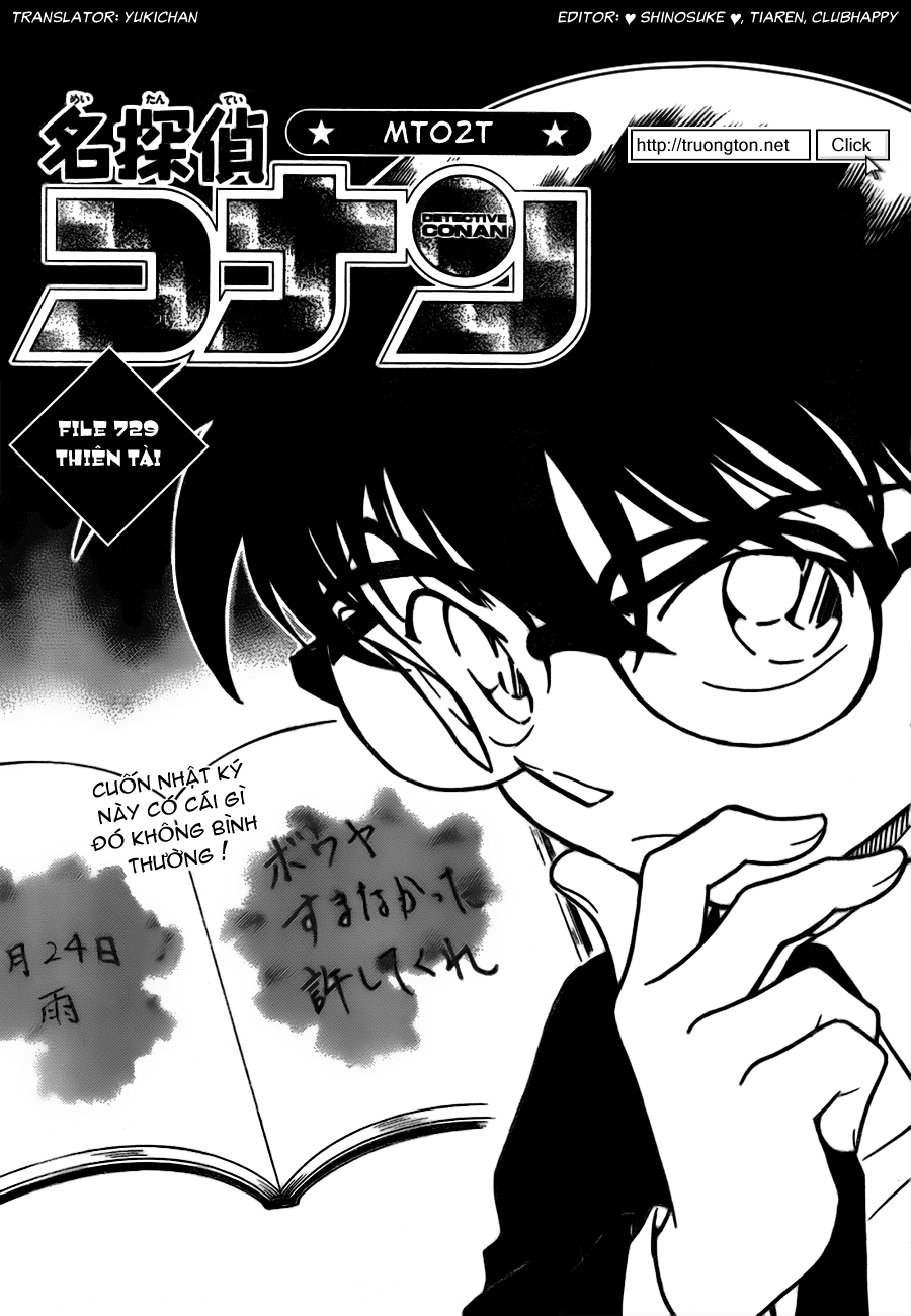 Detective Conan - Thám Tử Lừng Danh Conan chap 729 page 1 - IZTruyenTranh.com