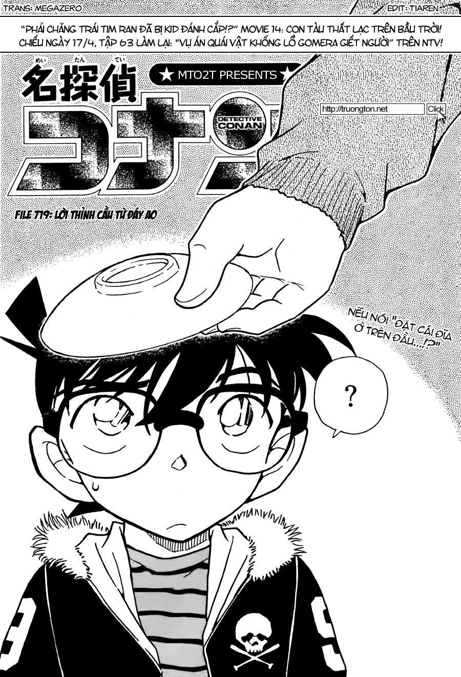 Detective Conan - Thám Tử Lừng Danh Conan chap 719 page 1 - IZTruyenTranh.com