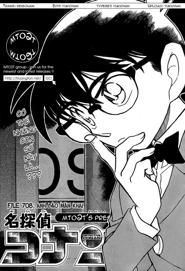 Detective Conan - Thám Tử Lừng Danh Conan chap 708 page 1 - IZTruyenTranh.com