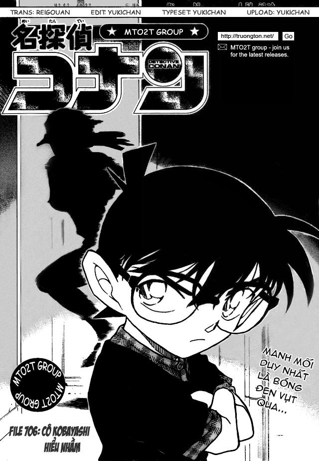 Detective Conan - Thám Tử Lừng Danh Conan chap 706 page 1 - IZTruyenTranh.com