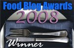 Winner Food Blog Awards 2008