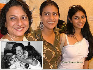 kajol ,mother tanuja sister tanisha: topchild.blogspot.com Indian top stars childhood teen age and marriage photos