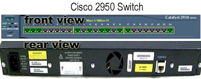cisco 2950 switch front and rear view