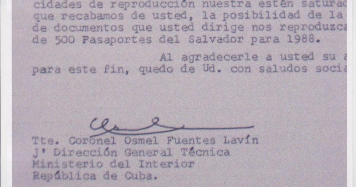 Conexi n habana berlin teniente coronel osmel fuentes for Pasaporte ministerio interior