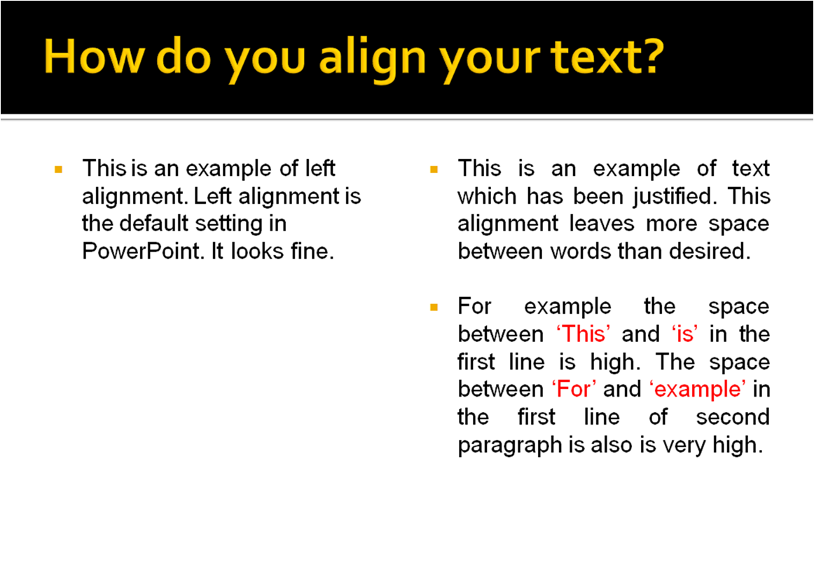 39 all about presentations 39 by jazz factory do you justify for Html table th left align