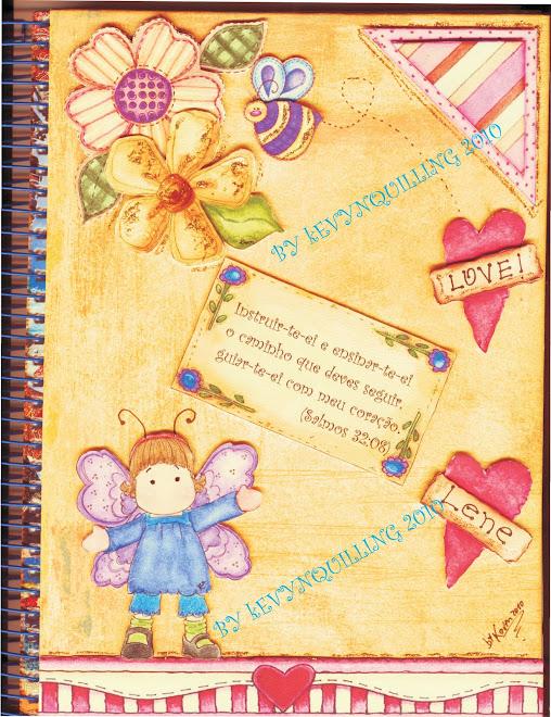 Caderno em 3 d 3 carimbo ....