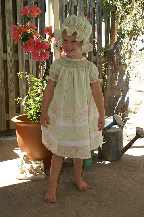 Welcome to Allsewsmocking - here is Perfect Miss DD (one of my adorable grand-daughters).