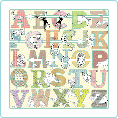 Cool children's alphabet art