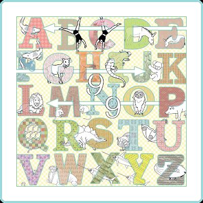 Cool children's alphabet art