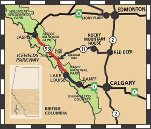Icefields Parkway Map Submited Images