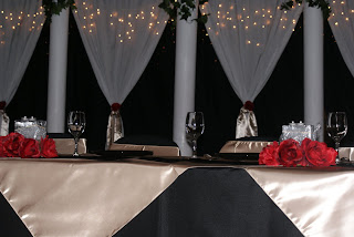 Memorable Moments Decor Rentals: Black , Red & Champagne Wedding ...