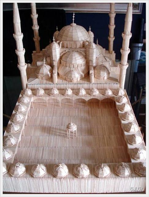 Toothpick+Art+%2812%29 Bangunan Yang Diperbuat Daripada Pencungkil Gigi