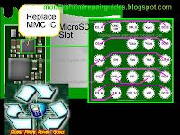 nokia 5320 MMC IC jumper ways tracks