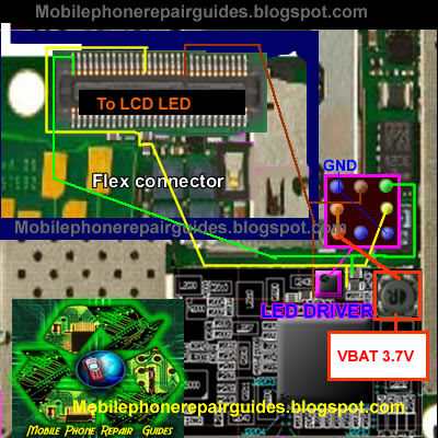 nokia 6700s LCD display back light jumper ways tracks' border=