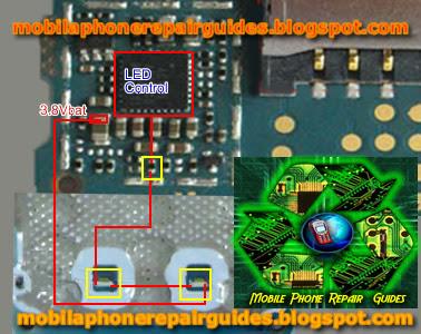 nokia 1508 keypad light not glowing repair picture help