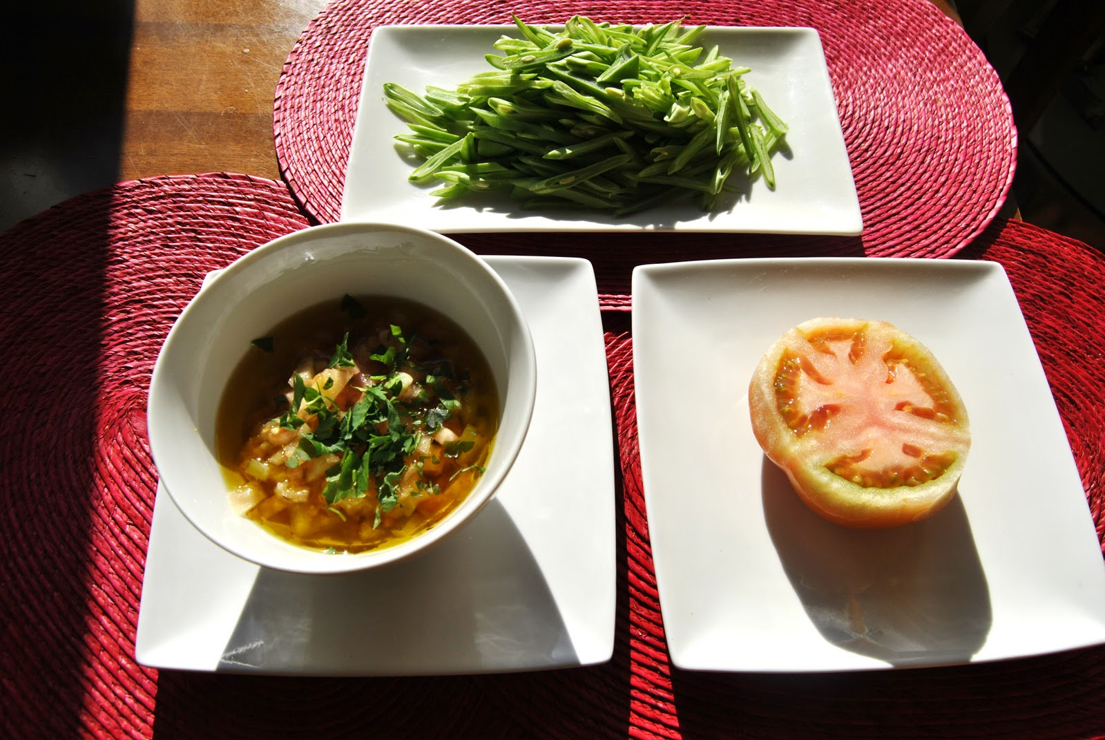 La cocina de rafa ensalada templada de judias verdes con for Cocina 5 ingredientes jamie