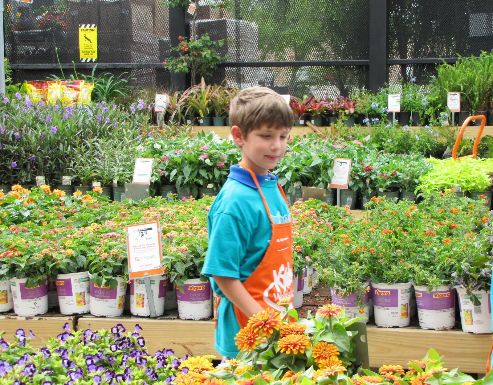 Family American Style Home Depot Class Field Trip