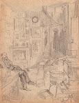 Emile Van Vooren in zijn portiersloge