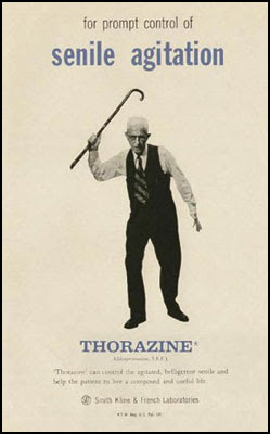 for promt control of senile agitation - Thorazine