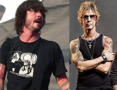 Dave Grohl y Duff McKagan