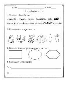 C0002 ATIVIDADES COM A LETRA C para crianças