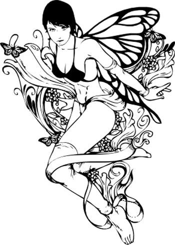 fairy tattoos designs. celtic fairy tattoo designs