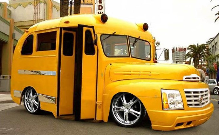 Tuned school bus - tuned car