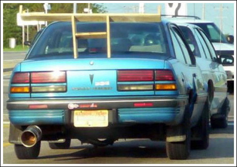 The weird and funny cars with inappropriate tuned spoilers