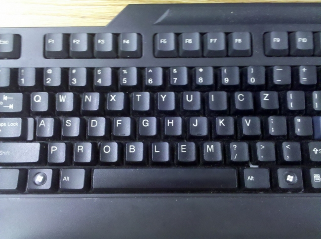 A keyboard with problems