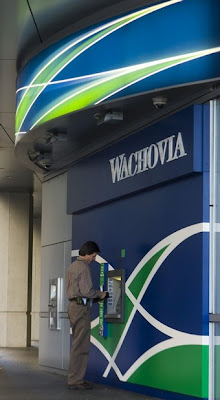 Man deposits rebate check at Wachovia - duh