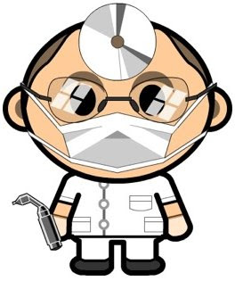 My dentist is not this cute but he's pretty competent