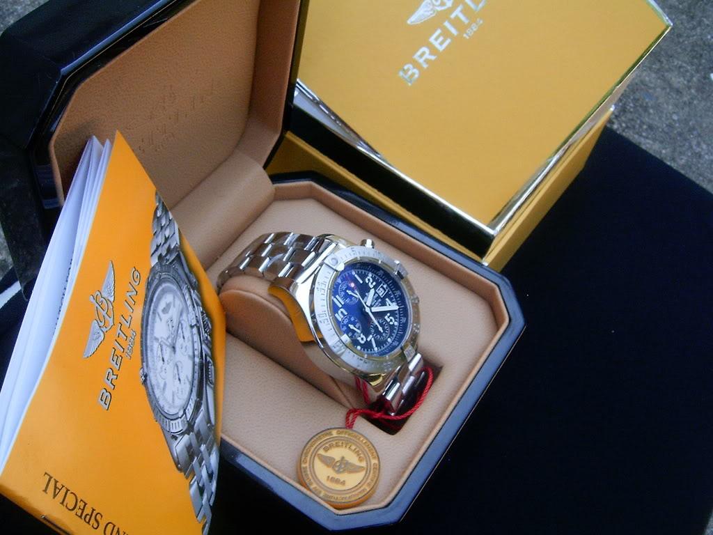 Breitling Super Avenger Black Dial Breitling Super Avenger Blue