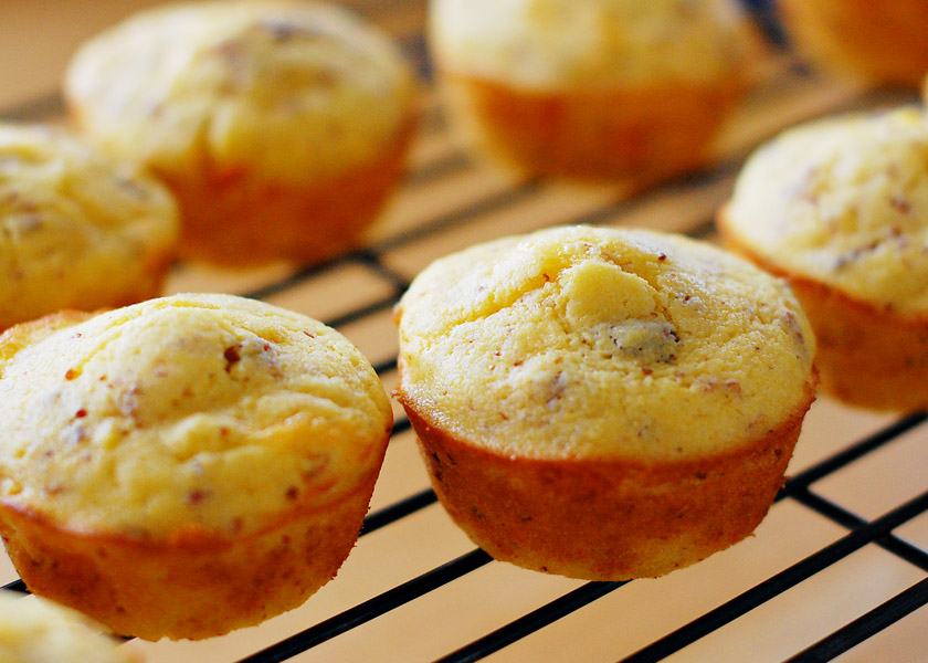 light bacon onion and cheddar corn muffins recipe key ingredient bacon ...