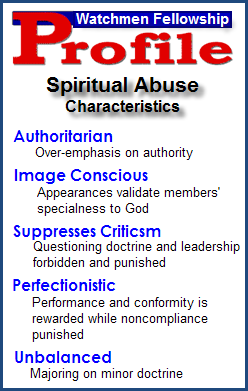 Watchman Fellowship&#39;s Spiritual Abuse Profile