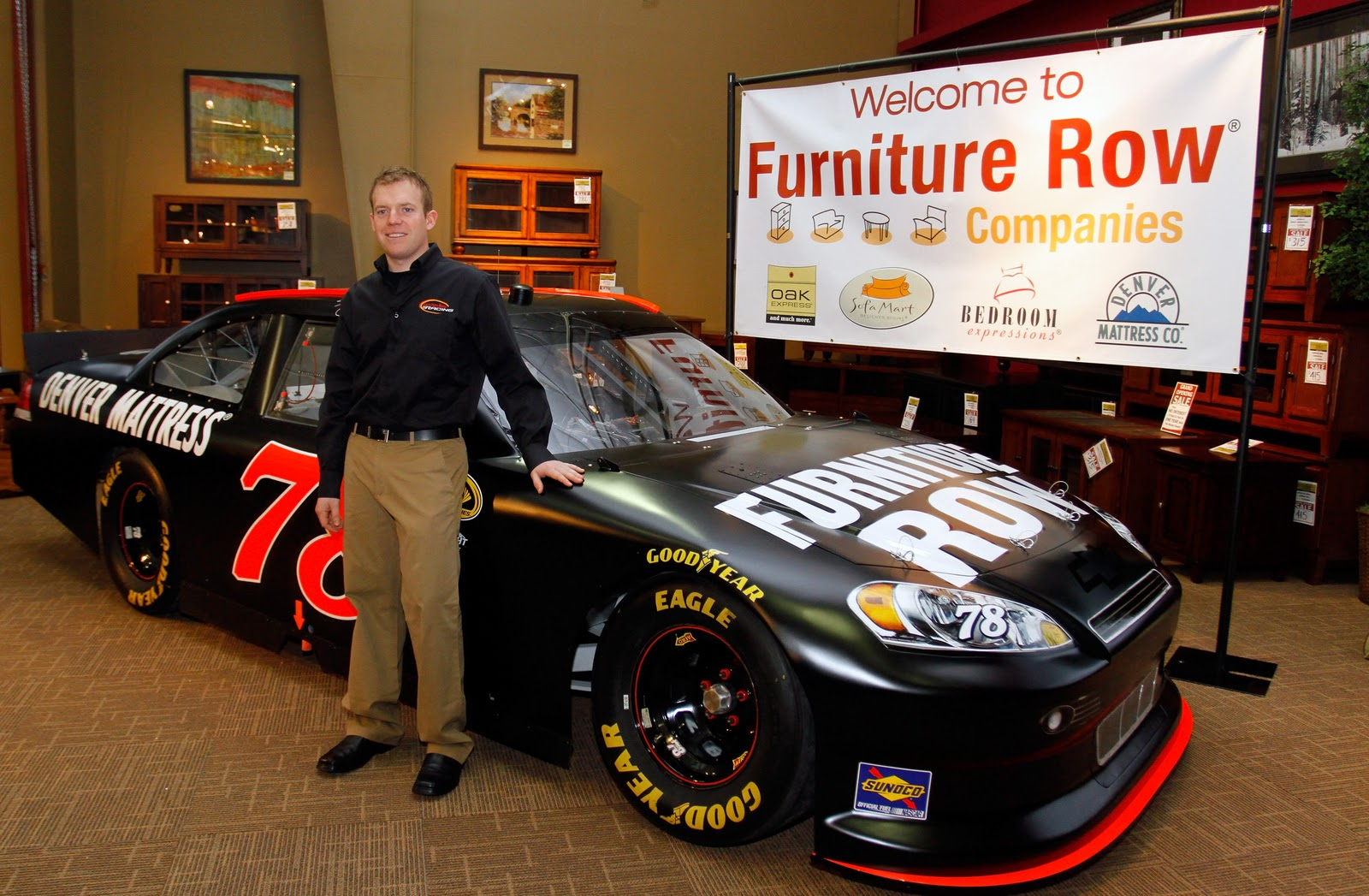 Image gallery nascar number 78 for Furniture row racing