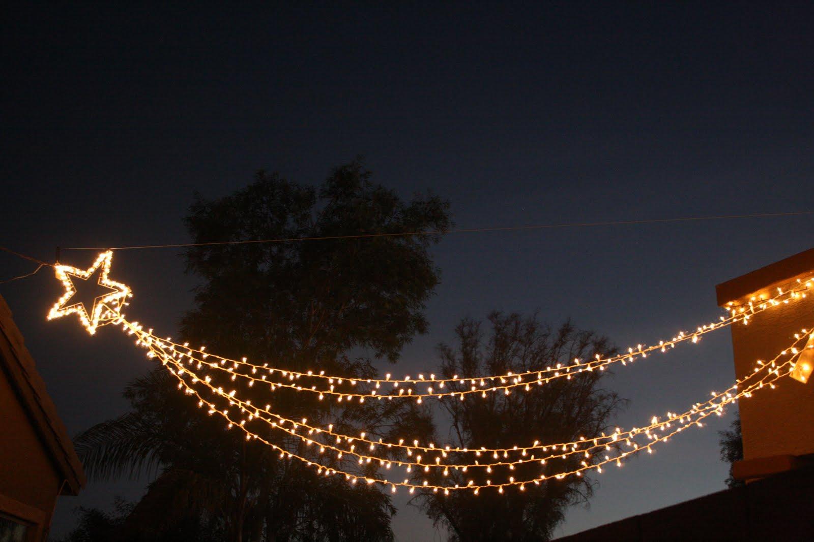 Falling Star Christmas Lights