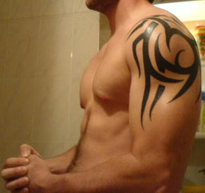 Tribal Tattoo Designs: Shoulder Tattoos. It's a simple but very nice Tattoo