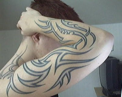 Tattoo Designs on Full Arm Tribal Tattoo Design