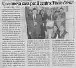 """Una nuova casa per il centro 'Paolo Otelli"""""""