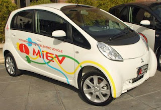 Electric car 2010 Mitsubishi i-MiEV low emition