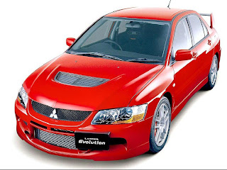 mitsubishi LANCER Evo red wallpaper