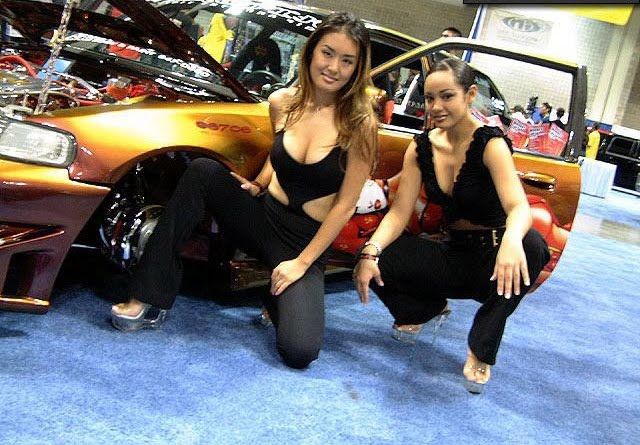 car hot wallpaper girls in car show japan