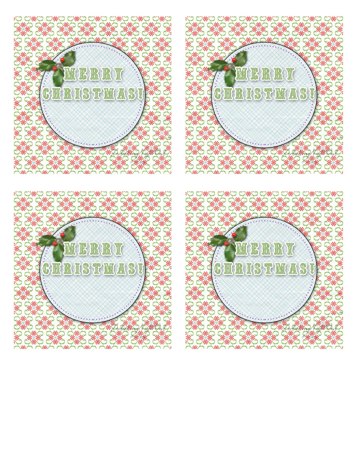 merry christmas tags template
