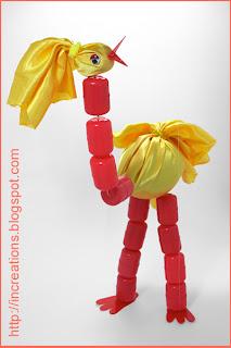 Nosey marionette bird