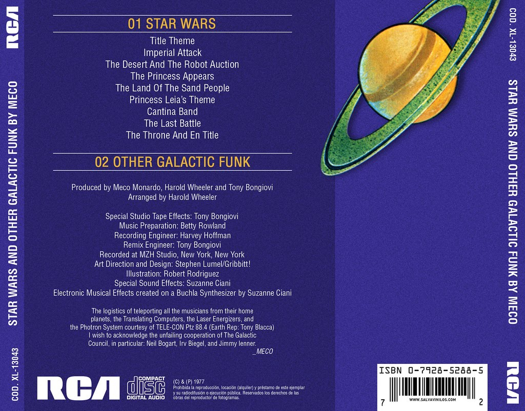 Meco Monardo* Meco - Star Wars Title Theme / Theme From Close Encounters