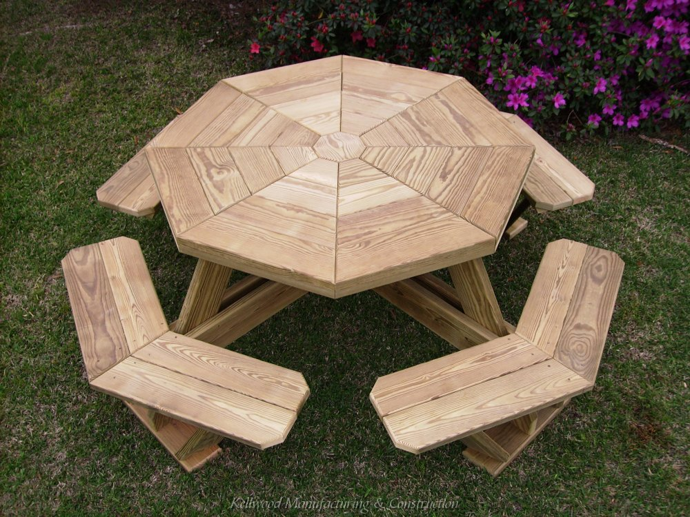 How To Make A Wooden Octagon Picnic Table, Mar…