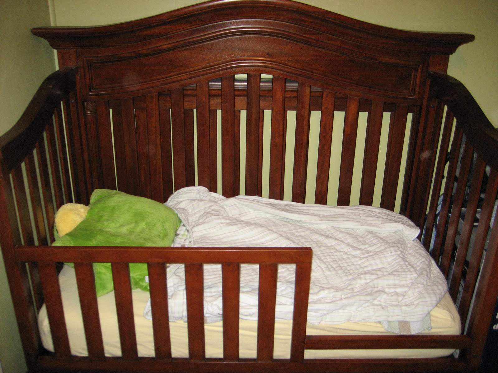 The Presson Family Converted Crib To Toddler Bed