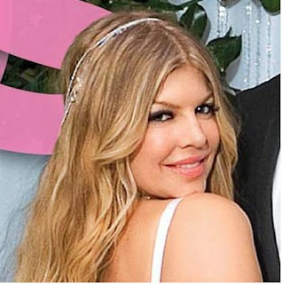 Keep it simple, like the thin headband that Fergie wore on her wedding day: